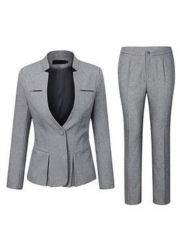 Yunclos Women's Elegant Business Two Piece Office Lady Suit Set Work Blazer Pant by Yunclos