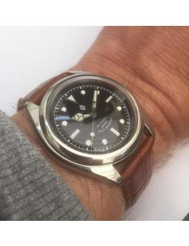 Seiko Dagaz Black Bay Dial Mod Vintage Retro 7 S26 Automatic Watch   New Dial, Hands, Glass Etc by Etsy