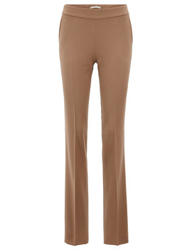 Regular Fit Formal Pants In Stretch Wool by Boss