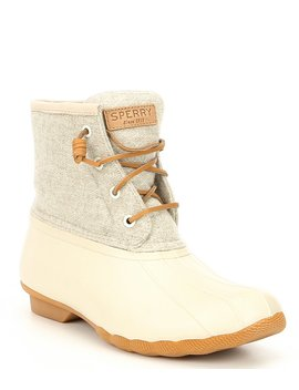 Saltwater Emboss Wool Duck Rain Boots by Sperry