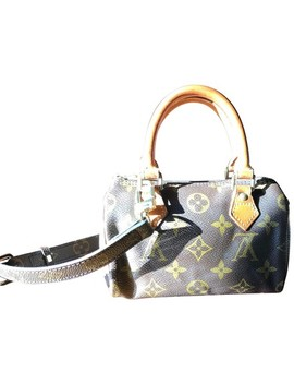 Speedy Monogram Leather Cross Body Bag by Louis Vuitton