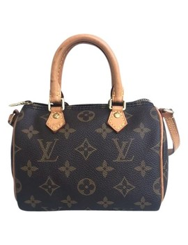 Speedy Nano Monogram Brown Canvas Satchel by Louis Vuitton