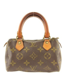 Speedy Nano Monogram Coated Canvas Satchel by Louis Vuitton