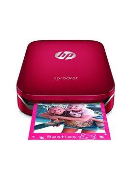 Hp Sprocket Impresora Fotográfica Portátil (Impresión Sin Tinta, Bluetooth, 5X 7.6Cm Impresiones) Color Rojo by Hp