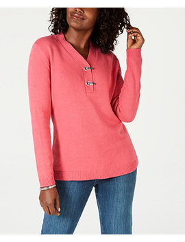 Cotton Hardware Detail Sweater, Created For Macy's by Karen Scott