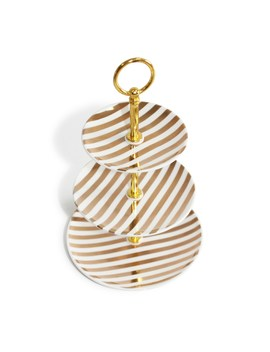 Boutique Glam Gold Round 3 Tiered Tray By Bead Landing™ by Bead Landing