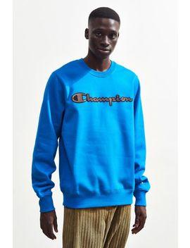 Champion Reflective Script Crew Neck Sweatshirt by Champion