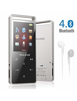 Mp3 Music Player With Bluetooth 4.0, Valoin 8 Gb Portable Lossless Digital Audio Player With Fm Radio/Voice Recorder For Walking Running, Metal Shell Touch Buttons (Support Up To 128 Gb) by Valoin