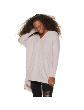 Juniors' Miss Chievous V Neck Long Sleeve Tunic by Kohl's