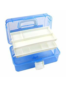 Tosnail 12 Inch Plastic Art Supply Craft Storage Tool Box Container Case With Two Trays by Tosnail