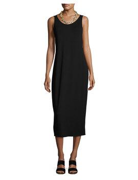 Jersey Scoop Neck Midi Dress, Petite by Eileen Fisher