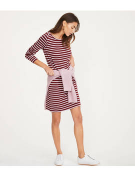 Lou & Grey Striped Signaturesoft Boatneck Dress by Loft
