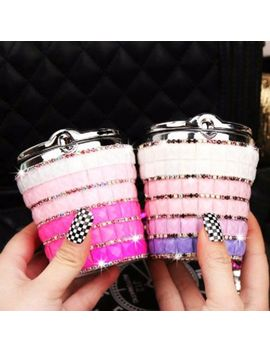 High Grade Diamond Bling Smokeless Car Ashtray Cylinder Cup Holder With Led Lamp by Unbranded
