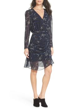 Floral Chiffon Faux Wrap Dress by Sam Edelman