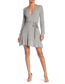 Long Sleeve Surplice Sweater Dress by Planet Gold