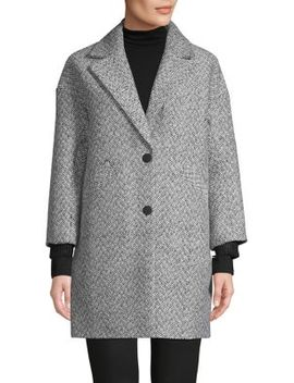 Herringbone Check Coat by Topshop