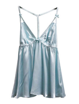 Nwot Betsey Johnson Nightgown Babydoll Lingerie Nighty Blue Medium M1011 A by Betsey Johnson