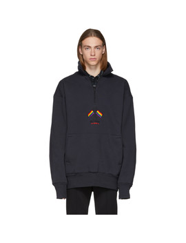 Black Chimney Zip Up Sweater by Balenciaga