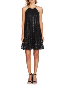 Sequin Ruffle Trim Dress by Cece