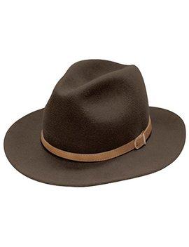 City Hunter Pmw91 Wide Brim Wool Felt Fedora Hat  3 Colors by City Hunter