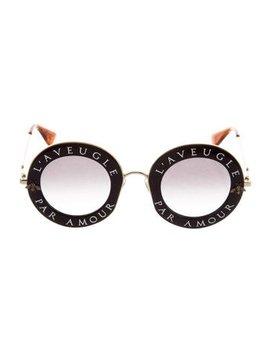 Gucci 2017 L'aveugle Par Amor Round Sunglasses by Gucci