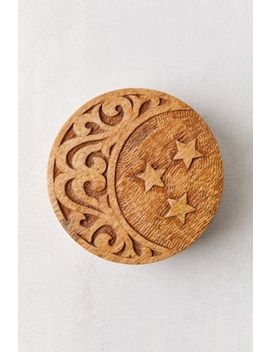Crescent Carved Wood Stash Box by Urban Outfitters