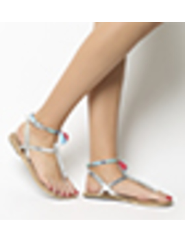 Salsa Tassel Ankle Strap Toe Post Sandals by Office