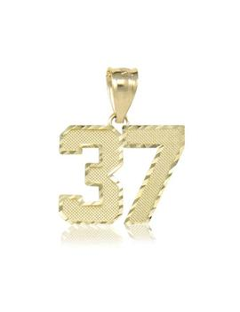 10 K Solid Yellow Gold Custom 2 Number Pendant   10 99 Diamond Cut Necklace Charm by Etsy