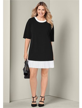 Plus Size Chiffon Detail Dress by Venus