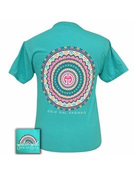 Girlie Girl Mandala Logo Blue Short Sleeve T Shirt by Girlie Girl Originals
