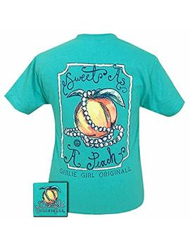 Girlie Girls Sweet As A Peach Short Sleeve T Shirt by Girlie Girl Originals