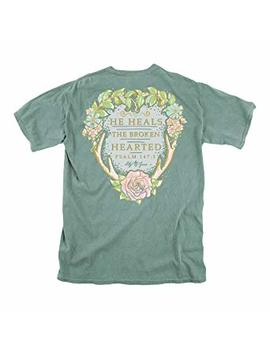 Lily Grace Heart Broken   Light Green Women's Topside Cotton T Shirts | Sizes S, M, L, Xl, Xxl | Southern Inspired by Lily Grace