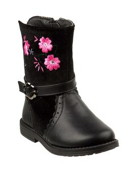 Embroidered Flower Boot by Laura Ashley