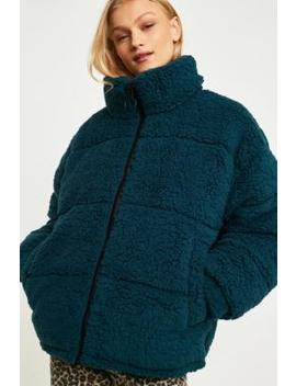 Urban Outfitters – Steppjacke Aus Teddyplüsch In Blaugrün by Urban Outfitters Shoppen