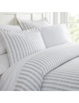 Heart & Home  Premium Ultra Soft 3 Piece Puffed Rugged Stripes Duvet Cover Set Heart & Home  Premium Ultra Soft 3 Piece Puffed Rugged Stripes Duvet Cover Set by Sears