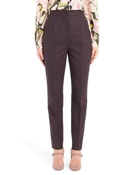Stretch Wool Skinny Pants by Dolce&Gabbana