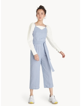 Strappy Gingham Jumpsuit   Blue by Pomelo