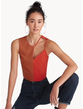 Two Toned Cut Out Crop Top   Orange by Pomelo