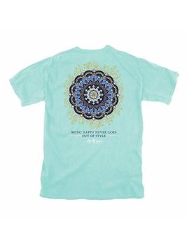 Lily Grace Mandala   Chalky Mint | Women's Topside Cotton T Shirt by Lily Grace