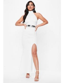 White Choker Neck Maxi Dress by Missguided