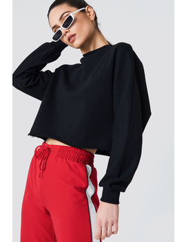 Raw Hem Batwing Sweatshirt by Na Kd