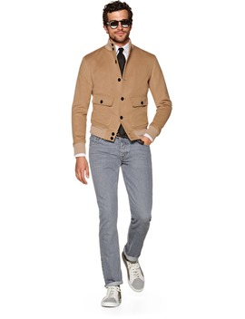 Camel Bomber Jacket by Suitsupply