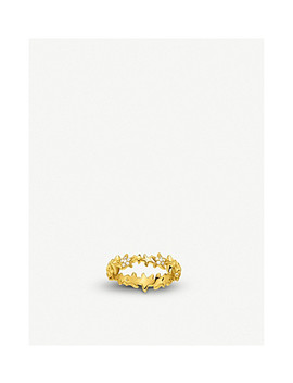 Starfish 18ct Yellow Gold And Zirconia Ring by Thomas Sabo