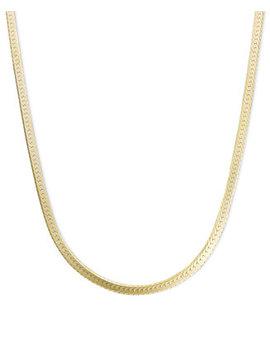 "14k Gold Necklace, 20"" Flat Herringbone Chain (1 1/4mm) by Macy's"