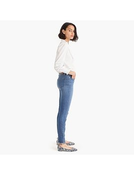 "9"" High Rise Toothpick Jean With Exposed Buttons And Cut Hems by J.Crew"