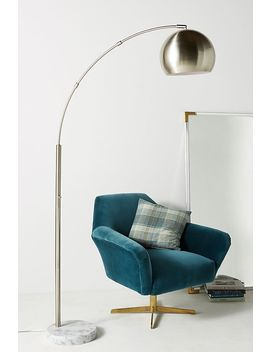 Silver Actoria Arc Floor Lamp by Anthropologie