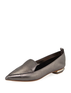 Beya Metallic Leather Loafer by Nicholas Kirkwood