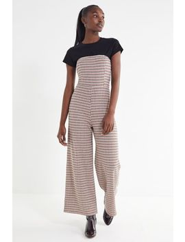 Uo Plaid Strapless Jumpsuit by Urban Outfitters