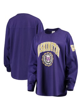 Washington Huskies Women's Edith Long Sleeve T Shirt   Purple by Pressbox