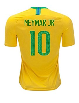 National 2018 Team World Soccer Cup Brazil Neymar 10 Home Stadium Mens Jersey Size L by Trudacia
